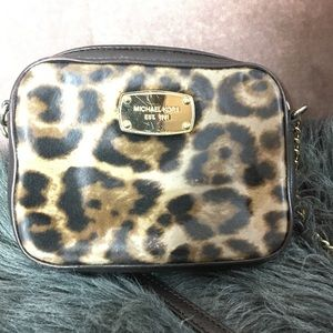 Cheetah Print Michael Kors Crossbody Handbag